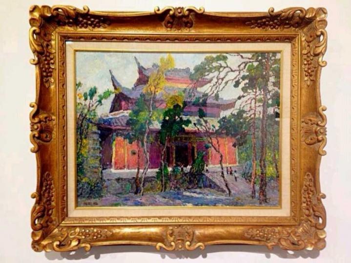 《紫院斜照》,1996,布面油画,65x50cm