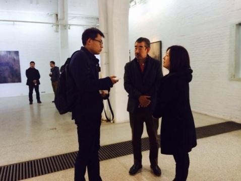 田畑幸人先生,和迟丽萍女士接受采访
