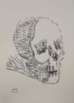 纸上丙烯的《草图系列》,速写,情绪到位,松动自然,线条可爱.