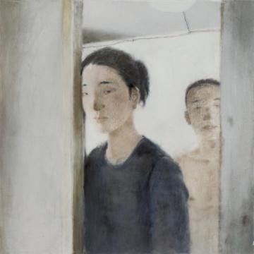 夏禹 《情侣》70 × 70 cm 木板坦培拉 2011