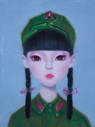 《Angel Doll No.4》 布面油画 80x60cm 2006