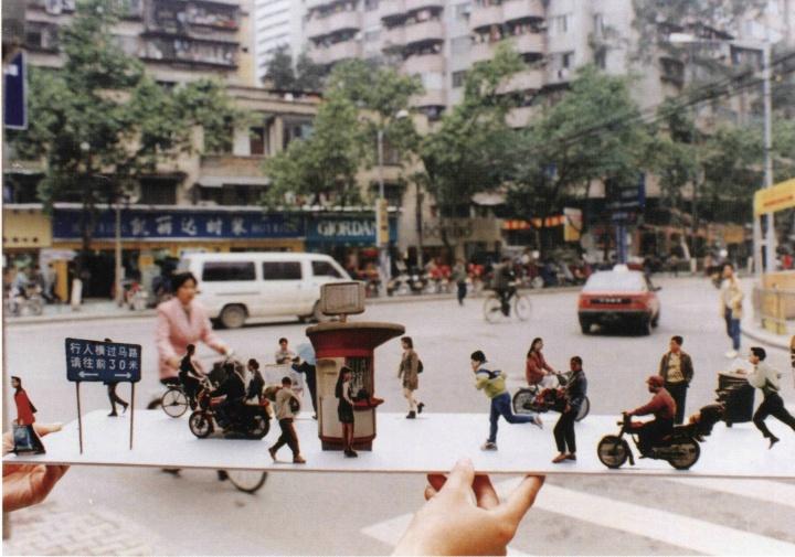 """陈绍雄_""""街景4""""1998图片装置"""