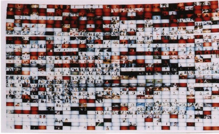 郑国谷《阳江青年生活与梦幻》 94 x 58 cm 1995-1998行为表演与照片记录 Edition of 16
