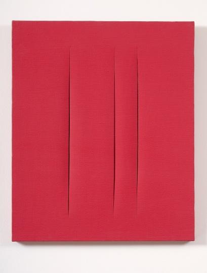 1966年所做《Concetto spaziale, Attese》 © Fondazione Lucio Fontana, Milano / by SIAE / Adagp, Paris 2014