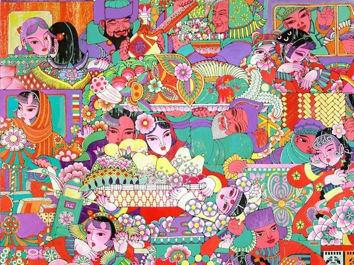 《腊月集》,年画、纸本绘画,1984年