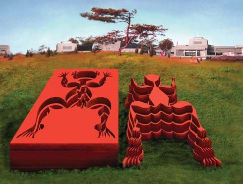  2007年,广东美术馆《形与影》展出作品。