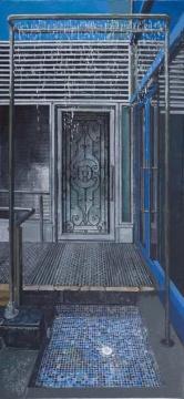 袁远《雨》 布面油画 215x100cm 2012年作