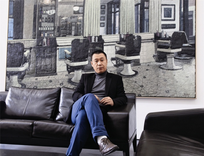 与艺术家打交道,寻找画廊的学术线索是陈海涛的主要工作