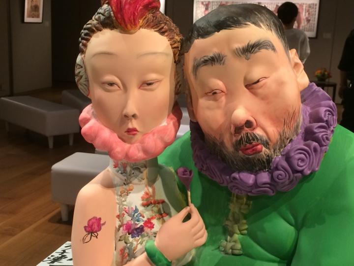 李津首次尝试的雕塑作品《饱食者》