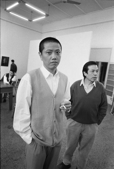 陈丹青和尚扬,1995年10月,南京