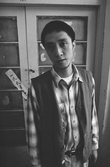 艺术批评家李小山,1995年10月,南京