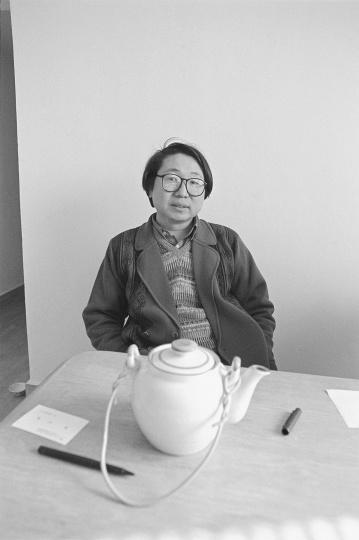 艺术批评家尹吉男,1995年3月,北京