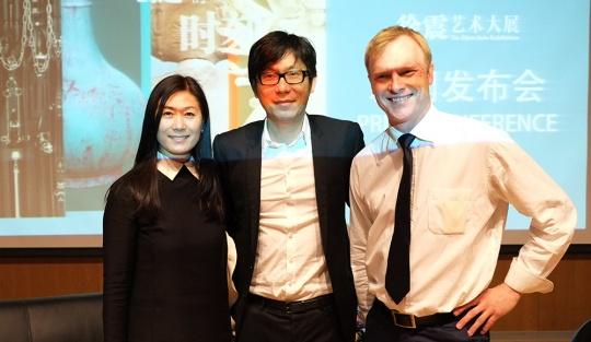 3月28日,下午3时新闻发布会 龙美术馆馆长王薇、艺术家徐震及《燃点》出品人Christopher Moore出席