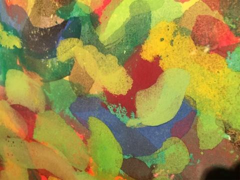 水彩作品局部-陈亮在桥舍汇报十余年抽象绘画探索