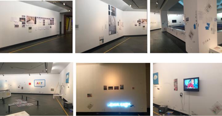 """机构生产之""""黄边时间""""单元展览现场  2015"""
