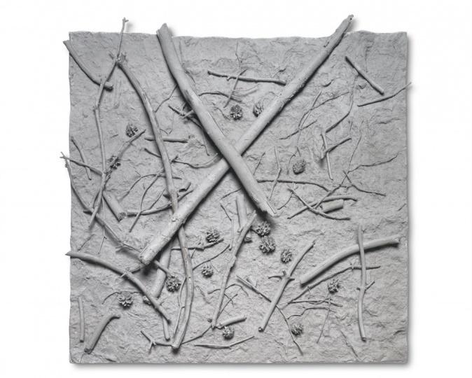 《forest floor》,5×100×100cm,PU,1997 ©DieterDetzner