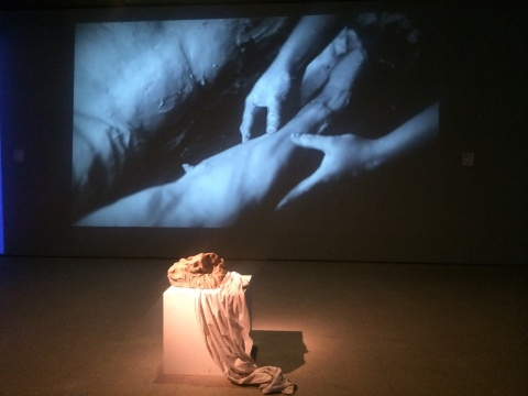 耿雪《未完成的奴隶-米开朗基罗的情诗》视频装置 19' 2015