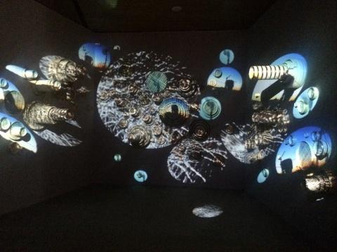 谭奇&康妮可《蒸蒸日上-上上》影像装置 尺寸可变 2013