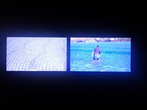 余果《一块广场石》双频影像 6'31'' 2014