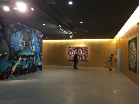 幼儿绘画展览墙