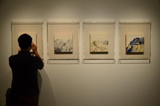 曹吉冈小作品展 坦培拉的中国式诗意