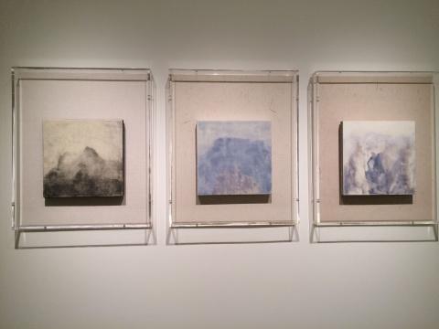 《吞吐》、《随风入夜》、《虚云》30×30cm 木板坦培拉 2015