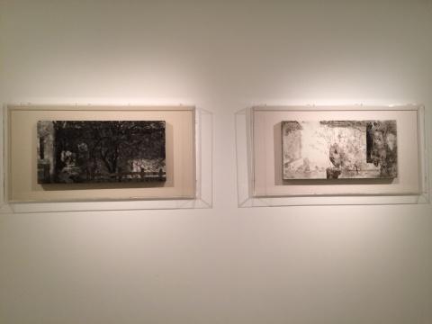 《太白楼写生-2-1》 40×80cm 布面坦培拉 2013