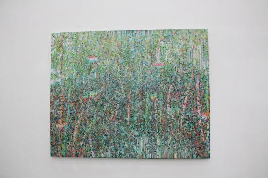 薛峰 《纷飞的纷飞的纷飞的2015-3》200×250cm 布面油画 2015