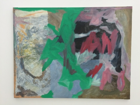 抽象是温凌近一年以来不断尝试的创作形式