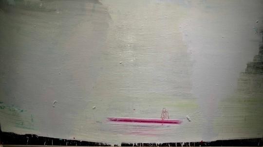 马轲《刻舟求剑3》207×378cm 布面油画 2014