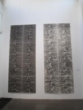 陈光武 《仲姞鬲-阳》365×144cm 纸本水墨 2015、《仲姞鬲-阴》365×144cm 纸本水墨 2015