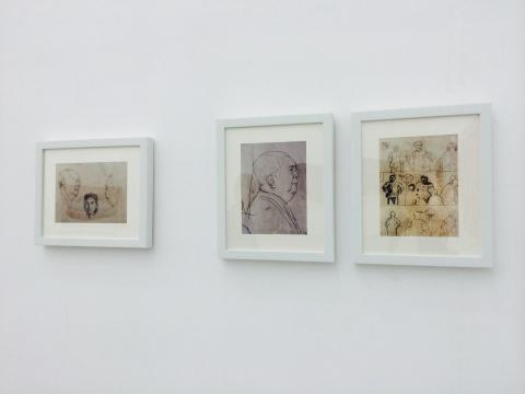 余友涵作品现场,看作品中的图像是如何成形并被安排成某种特定关系的