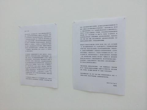 张恩利对这两件作品的自述