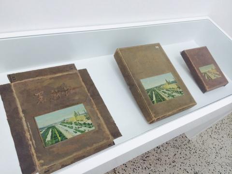 仇晓飞《黑龙江盒》左:40×50cm 中:30×41×5cm 右:21×28×4cm布上丙烯、纸2006