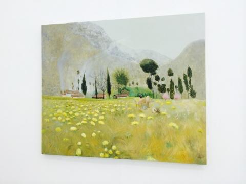 段建宇《艺术女神刚刚醒来No.4》181×217cm布面油画 2011