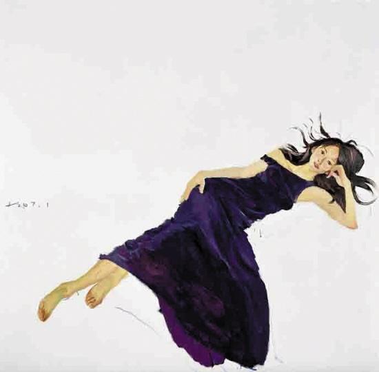 《美女林志玲》200x200cm 布面油画 2007年