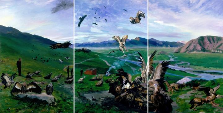 《天葬》300x600cm 布面油画 2007