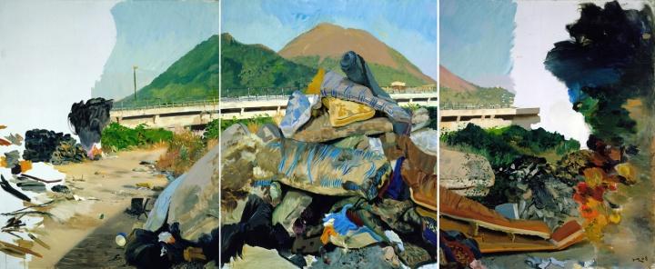 《上火》(三联画)260x600cm 布面油画 2008