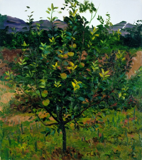 《苹果树》100x90cm 布面油画 2009