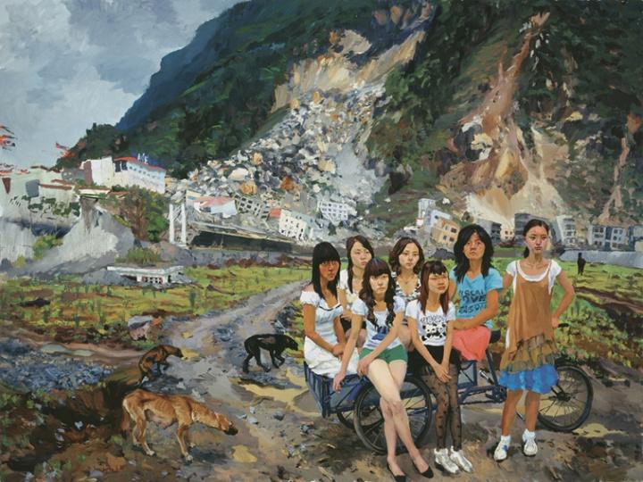 《出北川》 300x400cm 布面油画 2010