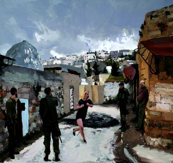 《在以色列和巴基斯坦之间no.20》150x140cm布面油画 2013