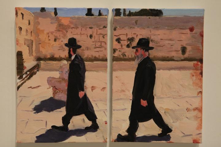 《在以色列和巴基斯坦之间no.11》30x20cmx2 布面油画 2013