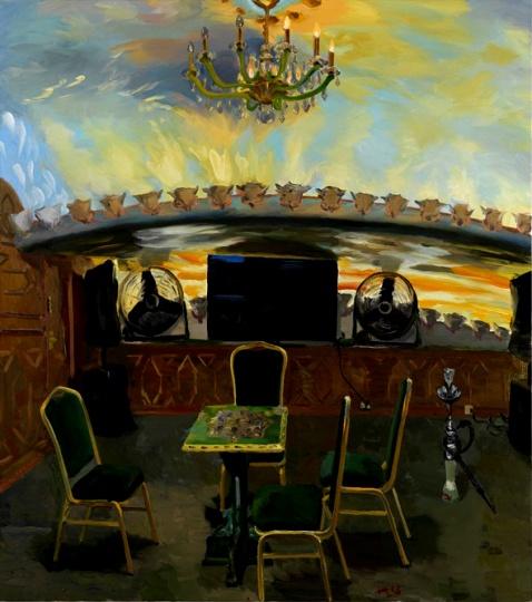 《埃及餐厅》 200x220cm布面油画 2013