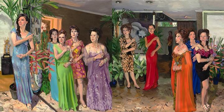 《记忆树之一》 200x400cm 布面油画 2014