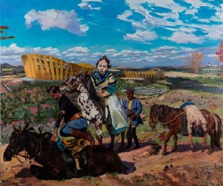 《空城记01》250x300cm 布面油画 2015