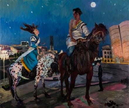 《空城记03》 250x300cm 布面油画 2015