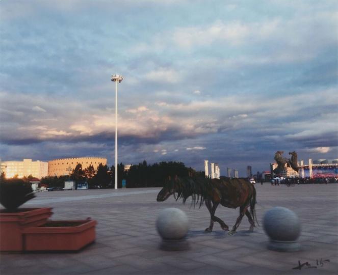 《照片绘画 5》 20.3 x 25 cm 照片上丙烯 2015