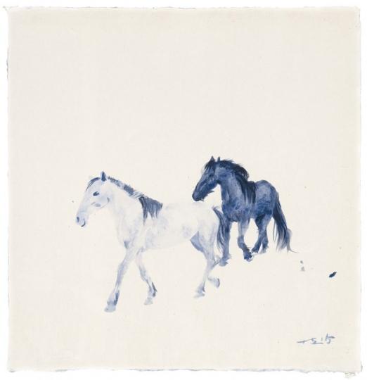 《蓝色 3》50 x 50 cm 纸上丙烯 2015