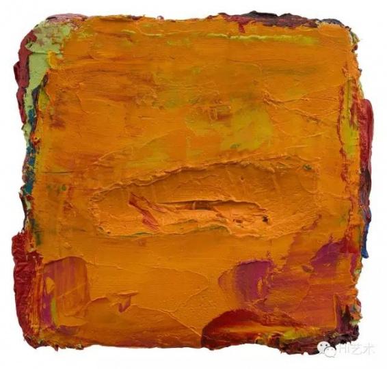 马树青 《无题 2015-9》 25×23cm 亚麻布面油画 2013-2015
