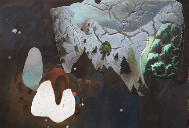 陈可 《雪山》 110×160cm 布面综合材料 2015